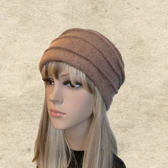 Felted wool beanie Womens winter hat Felted hats women  960e6824193