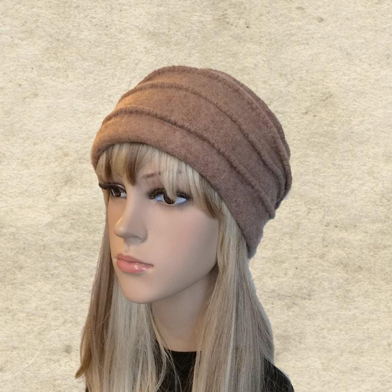 1aa89402afe Felted wool beanie Womens winter hat Felted hats women
