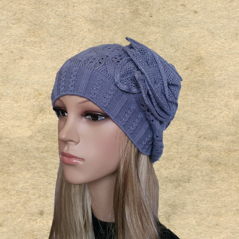 8aab33e211a Knitted slouchy hats Knit slouch beanie Womens knit fall