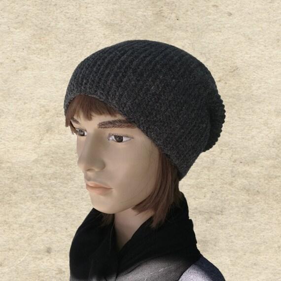 Slouchy men s beanie Men s knit hat Winter hat for  17bad7d24b1