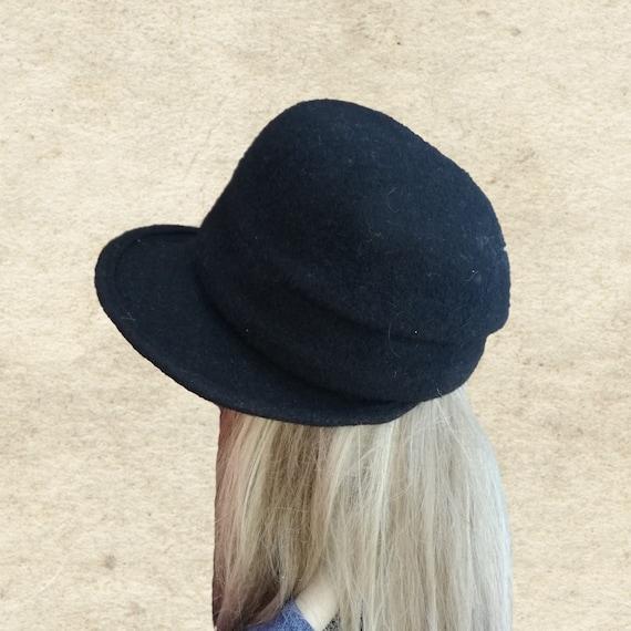 Faustmann cloche feutrine gris Charleston Style Femmes Chapeaux Hiver Feutre Chapeau