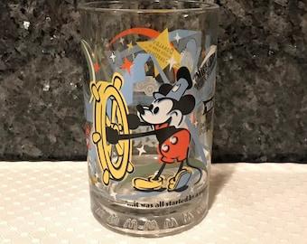 1996 25th Anniversary /& Hollywood /& Vine Disney Studios Glass
