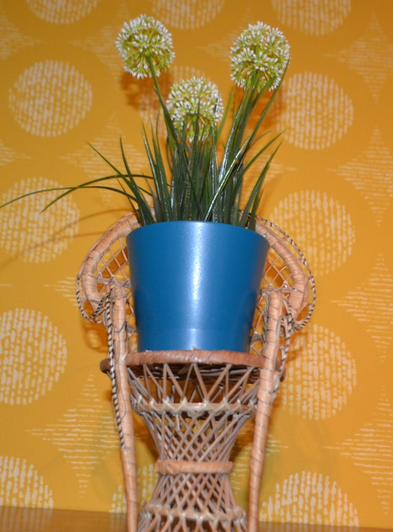 Retro Bank Design.Vintage Flower Bank Doll Seed Basket Basket 70s Retro Design Etsy