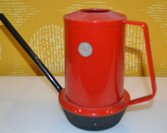 Vintage Watering Can 60s Plastic Red / Black Retro, Seventies ,Mid Century,Country Style,Shabby Chic