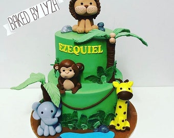 Jungle Cake Topper Etsy