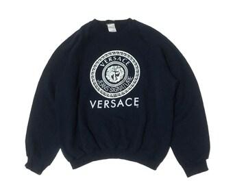 ed76746e Vintage Versace Jeans Signature Big Medusa Logo Sweater