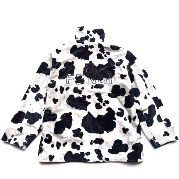 Vintage 90s Fendi Reversible Cow Print and Big Log
