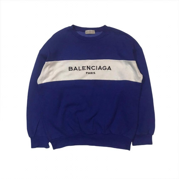 Vintage Balenciaga Big Embroidery Logo Sweater