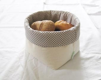 Fabric breadbasket DOTTI big