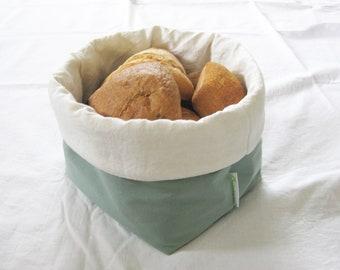 Fabric breadbasket LIGHT GREEN big