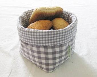 Bread basket KARO GRAU small #