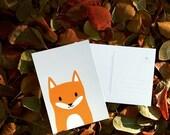 "Postcard DIN A6 // Fuchs ""happy friends"""