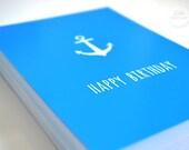 """Postcard DIN A6 // Happy Birthday """"Ahoi Sailor"""""""