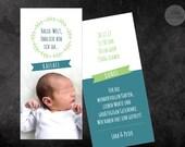 Birth Card Baby - Motif 1 - petrol