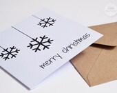 """Set of 3 Christmas cards """"xmas ball"""" xmas black"""