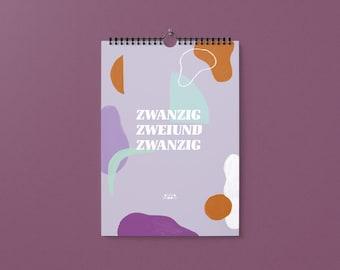 Calendar 2022 / Wall Calendar / Annual Calendar / Illustration / Abstract