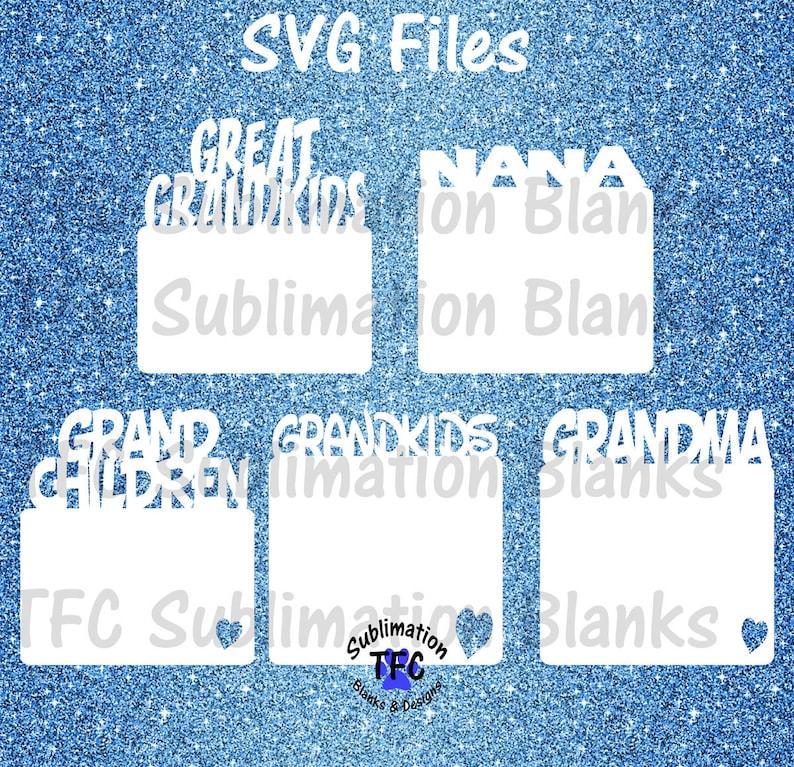 Grandparents Magnet Laser Cut Files,Glowforge Design,Glowforge SVG File,Digital Laser Design SVG,SVG Cut File,Laser Cut File,Grandkid Bundle