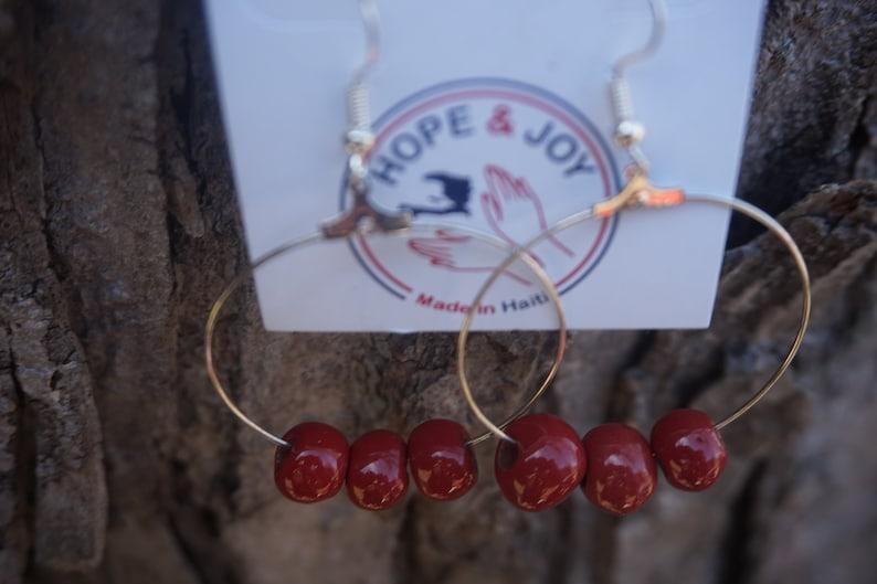 Haitian Made Clay Bead Earrings