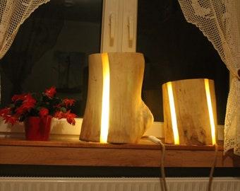 Lampe Baumstamm Etsy