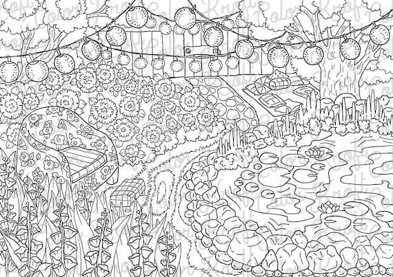 Pond Coloring Page | Malvorlagen tiere, Frosch malvorlagen | 403x570