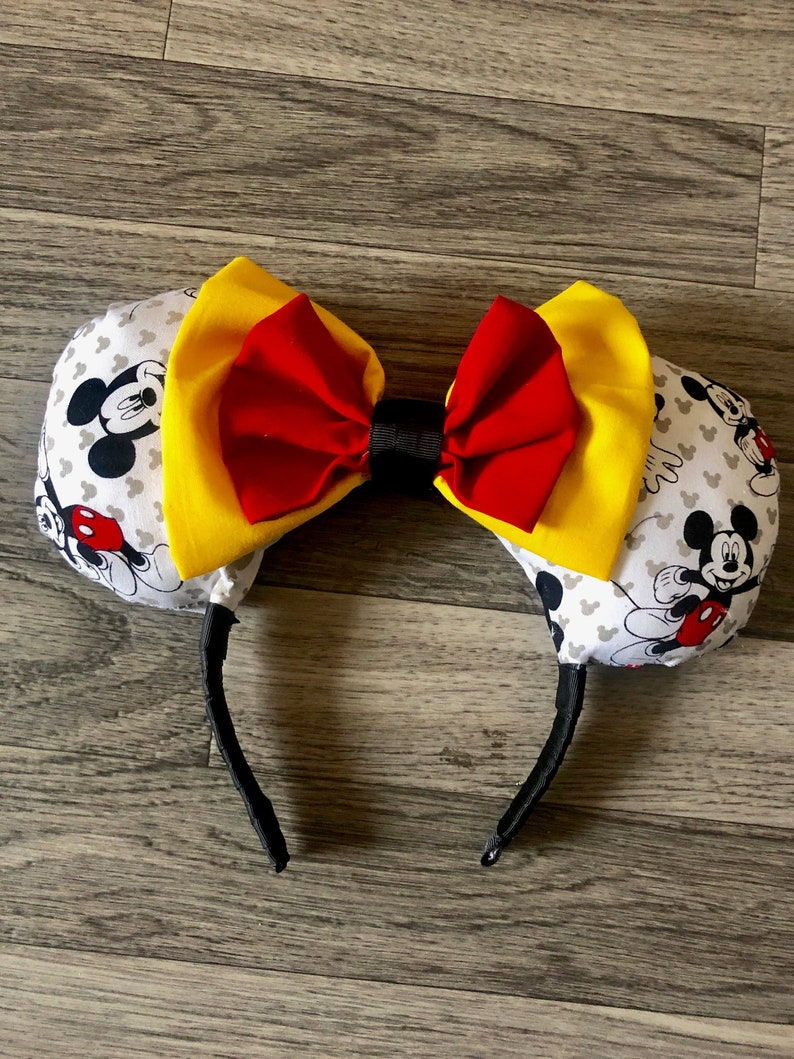Personalised girls boys Disney MINNIE MOUSE ANY character Princess Headband ears
