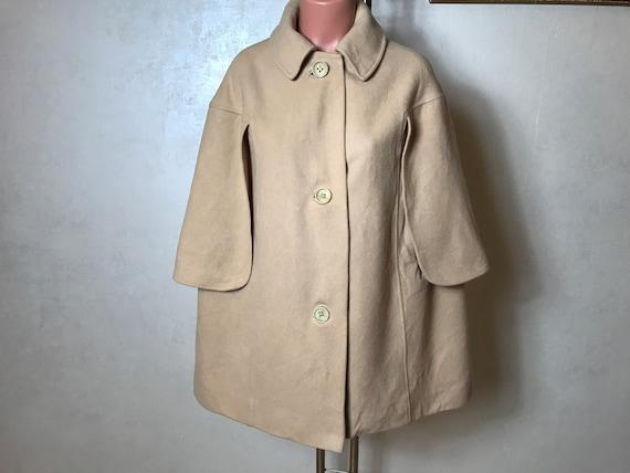 Vintage 80s poncho coat, camel coat, wool material