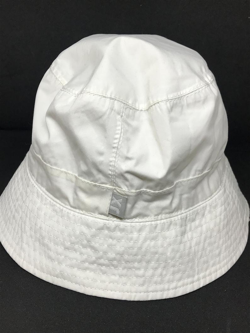 white fabric stylish summer hat Vintage 90s panama hat classic design unisex hat minimalistic hat