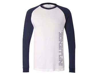 INFLUENCE Long Sleeve Jersey Baseball Tee