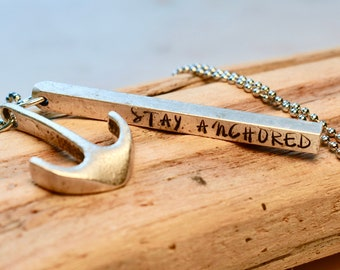 Stay Anchored Necklace, Anchor Necklace, Anchor Jewelry, Anchor for Her