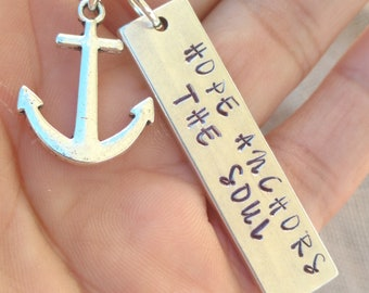 Hope Anchors the Soul Necklace, Hope Necklace, Religious Necklace