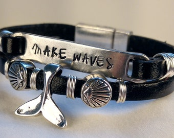 Make Waves Whale Tail Bracelet