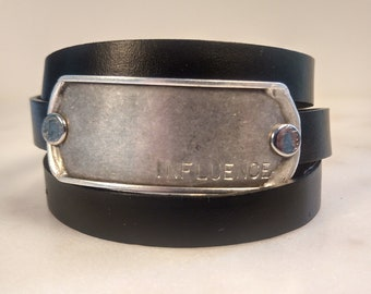 Influence Leather Wrap Bracelet, Magnetic Clasp