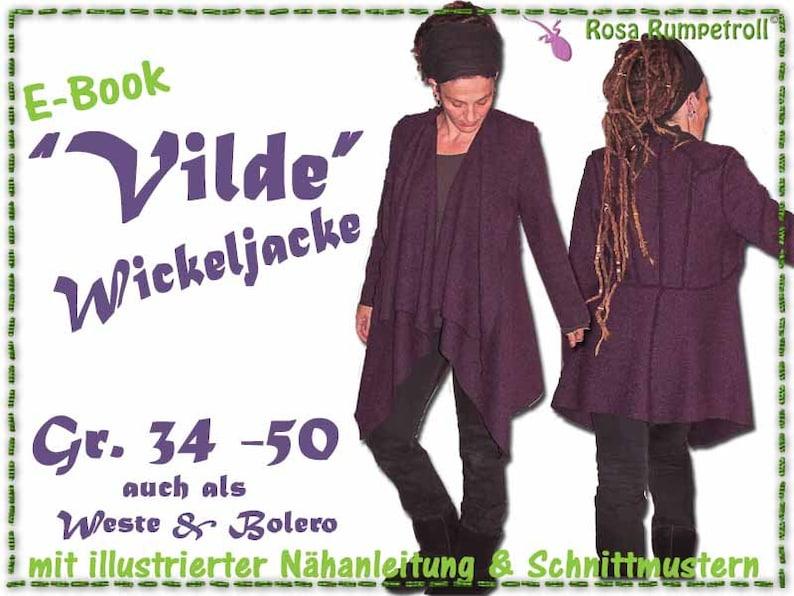Nähanleitung Damen Wickeljacke VILDE image 0