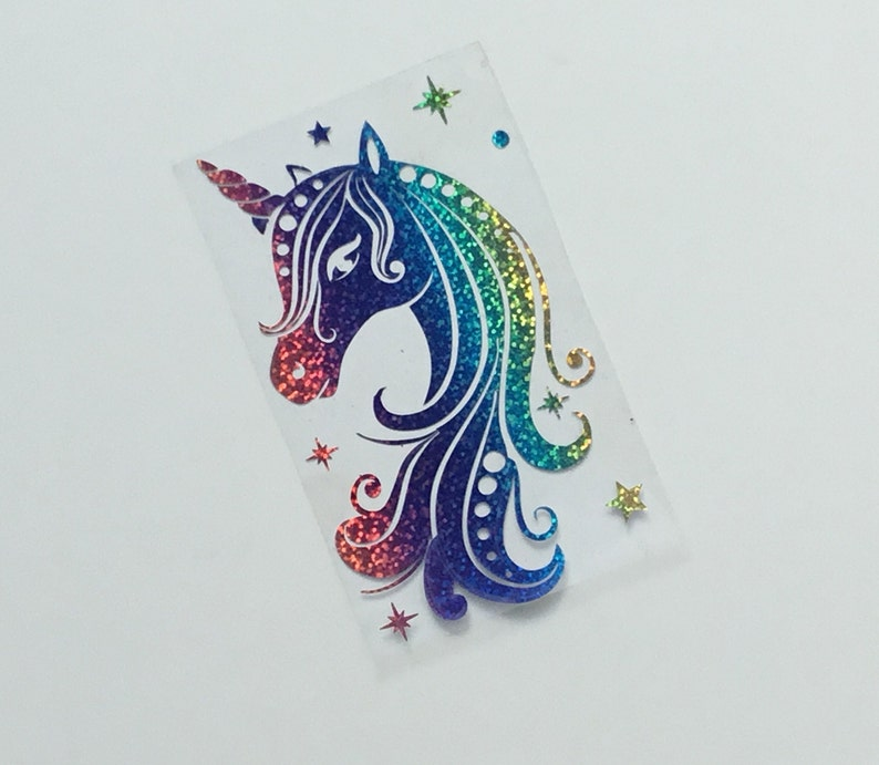 Rainbow Unicorn Iron on transfer , Birthday Iron on Transfers , Iron on  Vinyl , Custom Iron on transfer , Heat transfer custom Unicorn Decal