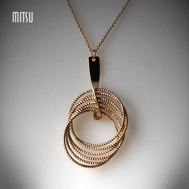Necklace Golden Rings