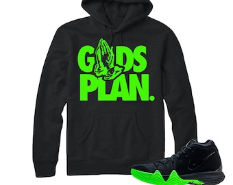 014cd2c7996 Kyrie 4 Halloween Hoodie | Drake Gods Plan - Nike Halloween Kyrie 4 / Black  Hooded tee shirts