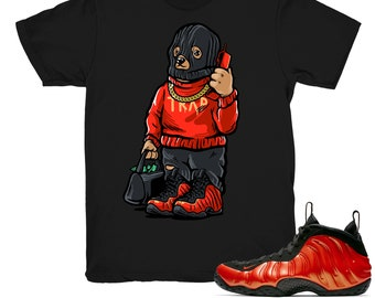 553611f70cd Foamposite One Habanero Red shirt