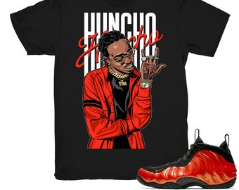 b2a59be5939 Foamposite One Habanero Red shirt