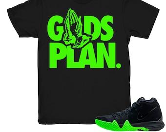 c89d3211afd Kyrie 4 Halloween shirt | Drake Gods Plan - Nike Kyrie 4s Halloween Black  tee shirts