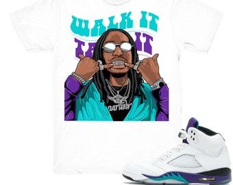 e6e2b7365689a4 Air Jordan 5 Grape shirt