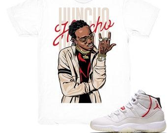 9127c0ee357 Air Jordan 11 Platinum Tint shirt   Huncho - Retro 11 Platinum Tint White  tee shirts