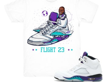 268538dc2a70e5 Air Jordan 5 Grape shirt