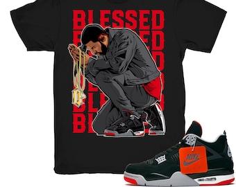 2bc28f6c81e8aa Jordan 4 Bred shirt