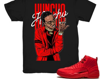 8fbab8d4e73 Air Jordan 12 Gym Red shirt | Huncho - Retro 12 Gym Red 2018 / Black tee  shirts