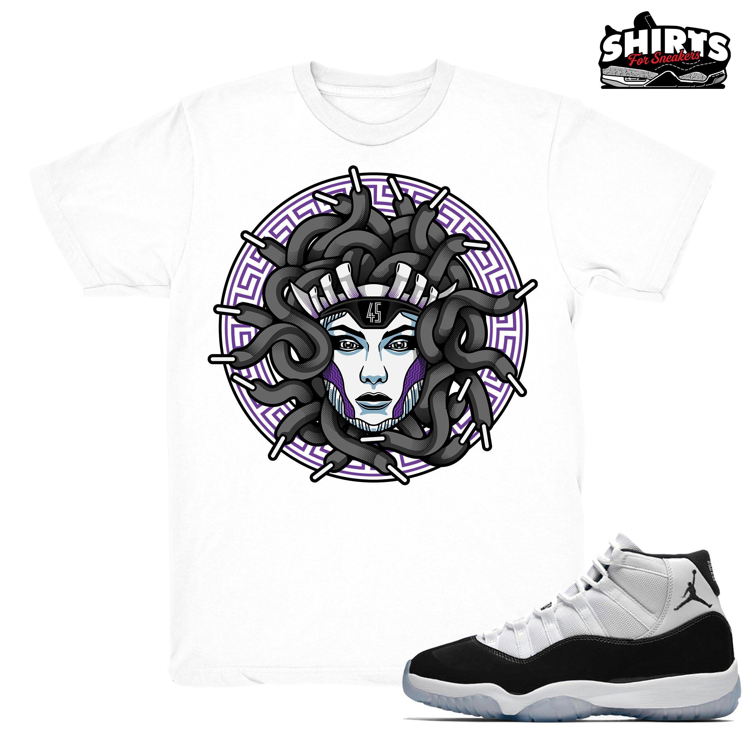 Air Jordan 11 Concord Shirt Medusa Laced Retro 11 Concord Etsy