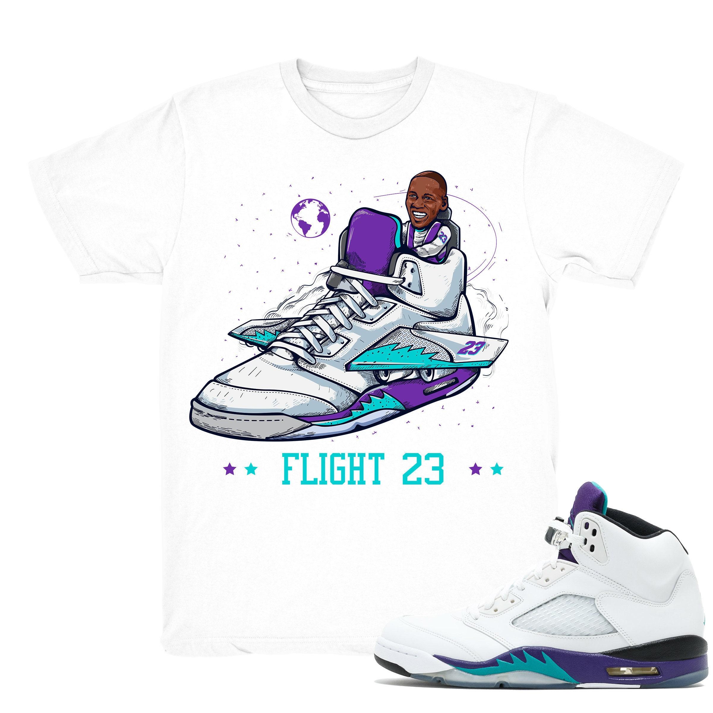 new concept f2038 102ff Air Jordan 5 Grape shirt | Flight 23 - Retro 5 Fresh Prince Grape tee shirts