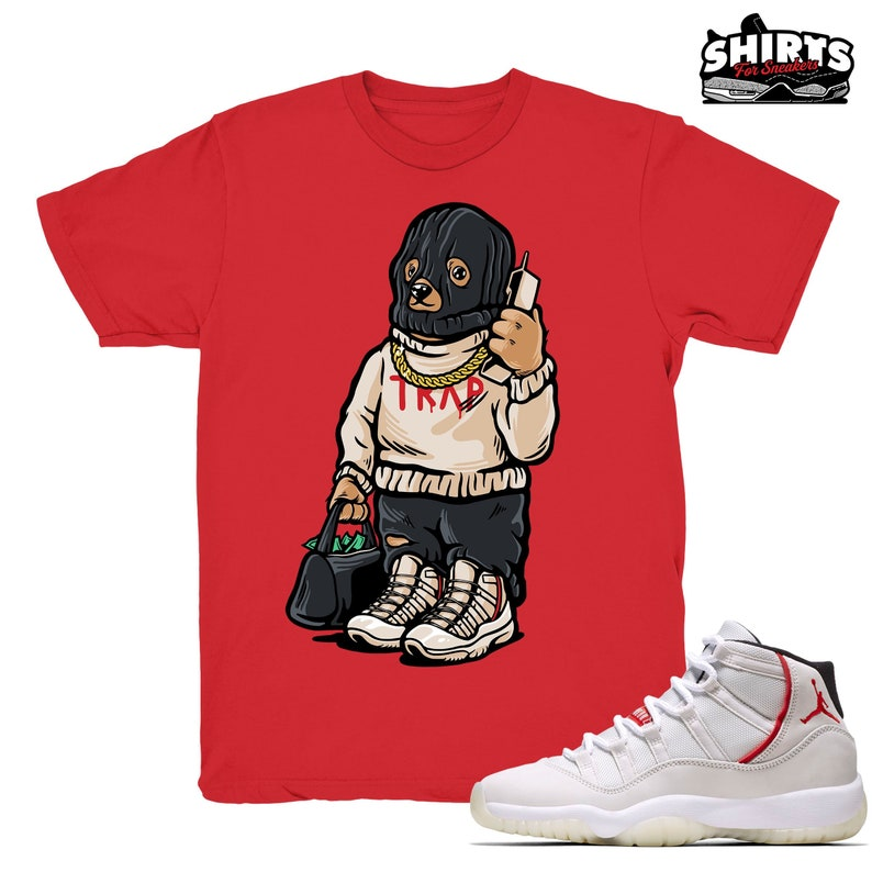 12fc7fdbb5b0 Air Jordan 11 Platinum Tint shirt Trap Bear Retro 11