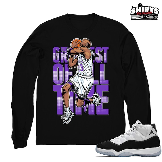 sale retailer 4bcb4 a0191 Air Jordan 11 Concord shirt | The GOAT - Retro 11 Concord 2018 / Black Long  Sleeve tee shirts
