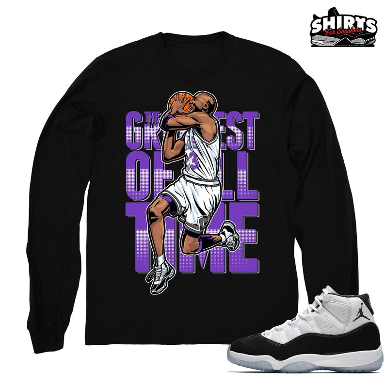 2e102d095f84 Air Jordan 11 Concord shirt The GOAT Retro 11 Concord 2018