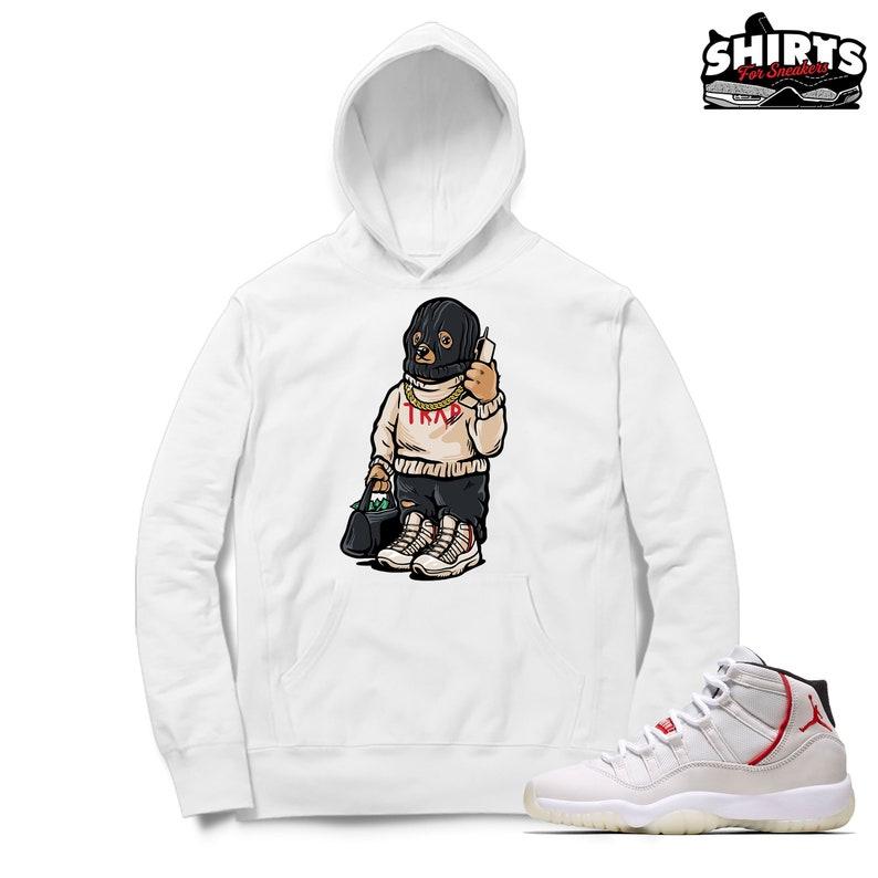 f9a0a1f4f28a3f Air Jordan 11 Platinum Tint Hoodie Trap Bear Retro 11